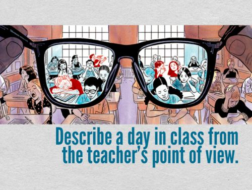 Describe a day in class from the teacher's point of view.