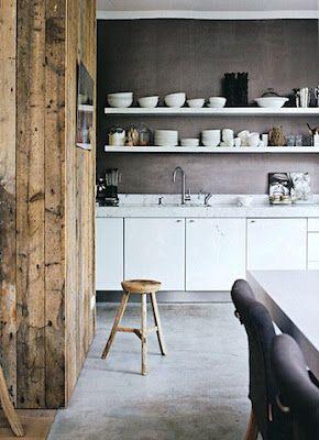 white + wood decor