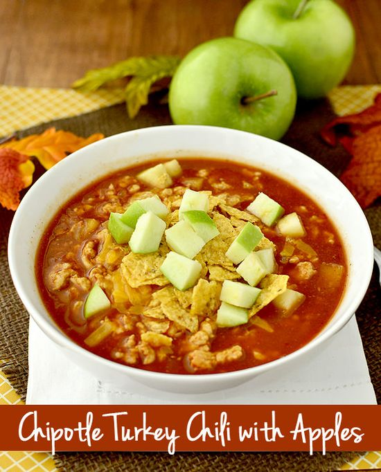Chipotle Turkey Chili with Apples