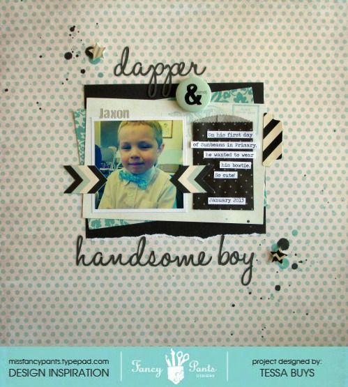 Dapper and Handsome Boy - Scrapbook.com
