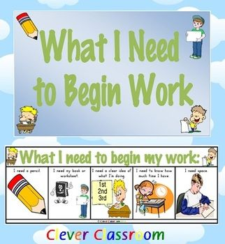 What I need to begin work desk strips/desk mate - 1 page $