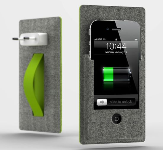 wall mounted iPhone charger