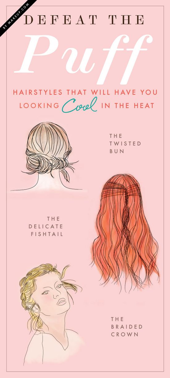 the very best hairstyles for humidity // no more frizzy poofy summer hair!
