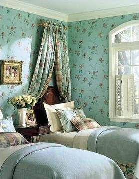 Lovely guest room - beautiful colors