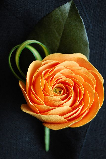 Ranunculus Clay Flower Boutonniere