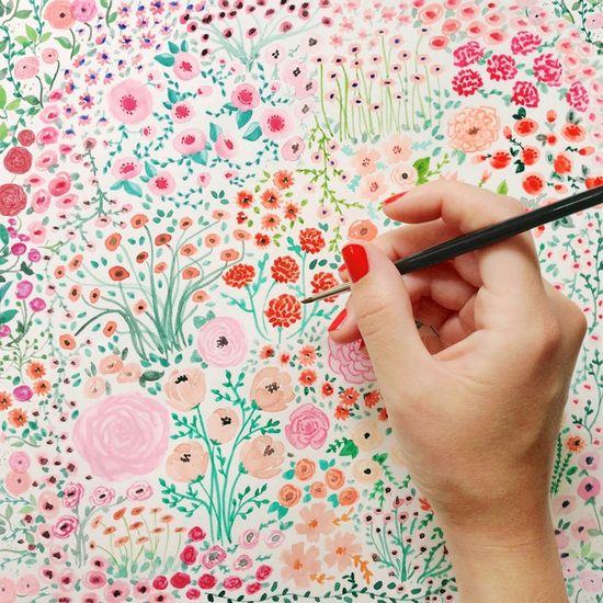 pretty watercolor flowers