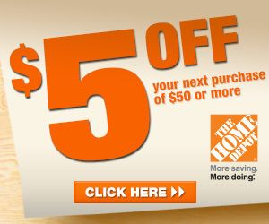 RARE $5 Off $50 Home Depot Coupon  - couponingforfreeb...