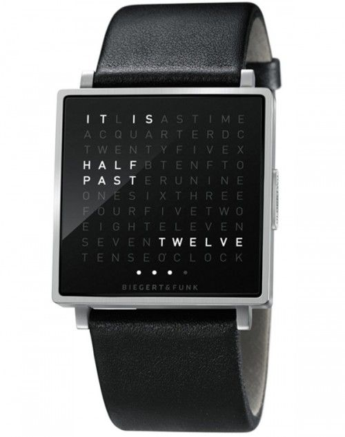 QLOCKTWO W Watch Tells You The Time, In Words