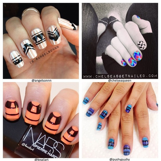 To celebrate the weekend, we're sharing some of your graphic nails. Remember to submit photos of your tips and include #SephoraNailspotting to be featured on our social sites. What are you rockin' on your nails for the weekend?