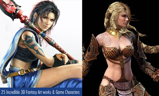 25 Incredible 3D Fantasy Art works and Game Character designs for your inspiration. Follow us www.pinterest.com...