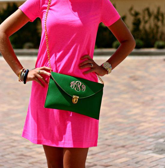 Green + pink.