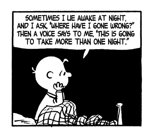 """Peanuts:  """"Where have I gone wrong?"""""""