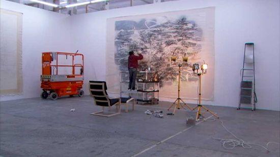 "Julie Mehretu - Production still from ""Systems"" (2009) | Art21"