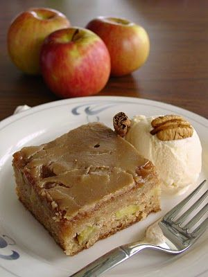 Fresh Apple Cake w/Brown Sugar Glaze #cake