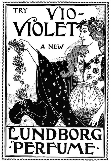 "I would definitively try ""Violet"", as I really like stand alone note floral perfumes. #vintage #Victorian #ad #perfume #beauty #1800s #illustration"