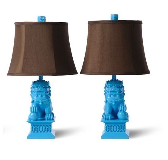 Turquoise Foo Dog Lamps More Luxury Hollywood Interior Design Inspirations To Pin, Share & Inspire @ InStyle-Decor.com Beverly Hills (Use Our Red Pinterest Speed Pin Button Top Of Each Page Happy Pinning)