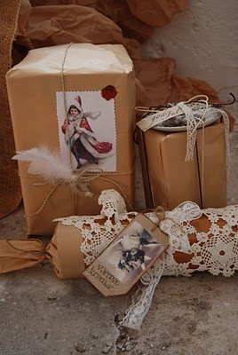 Lovely gift wrapping..