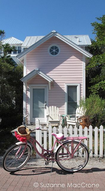 Pink Cottage, Pink Bicycle :)