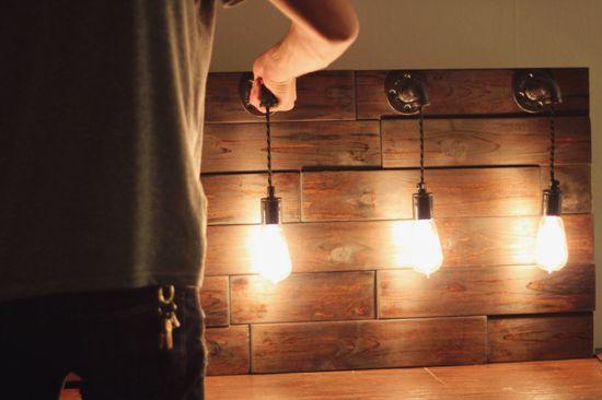 Hand made light fixture