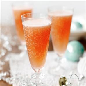 Campari and grapefruit fizz cocktail
