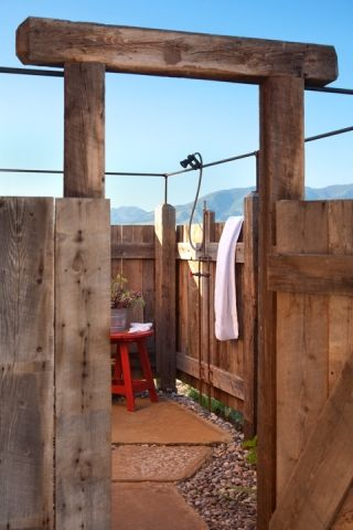 Gordon Gregory Photography ~ awesome outdoor shower