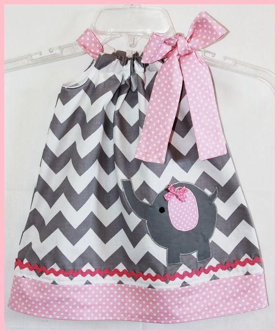 I Could Totally Make This: Toys Park: Chevron Baby Girl Dress- Etsy. I Could Totally