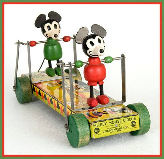 Mickey Mouse Circus Vintage Pull Toy
