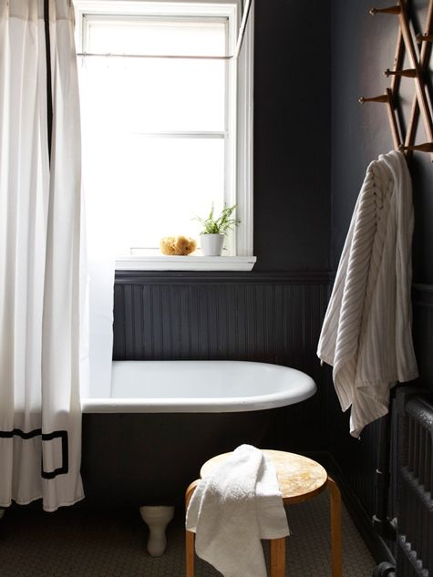 so much black inspiration for home! love it.