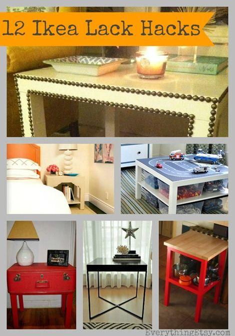 Ikea Lack Table Hacks {12 Inspiring DIY Projects} #diy #ikea