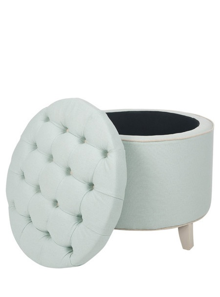 Mint storage ottoman,i think i would certainly put all of the cats toys in it.