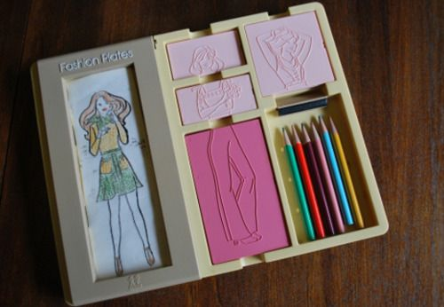 Fashion plates - this was definitely one of my favourite toys from the 80's!!
