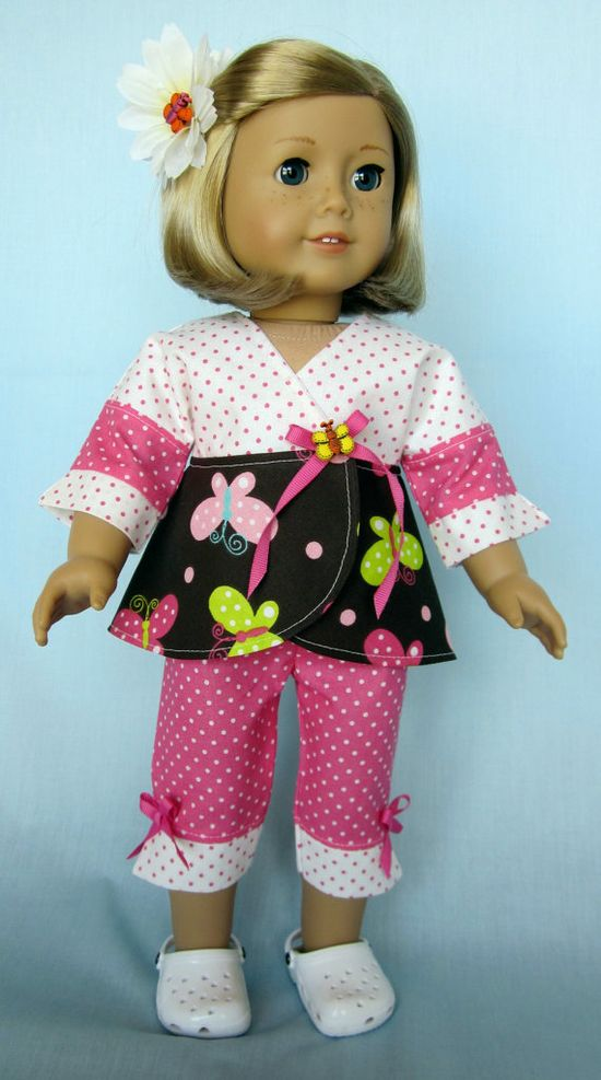 American Girl Clothes   Pink Butterfly by SewMyGoodnessShop