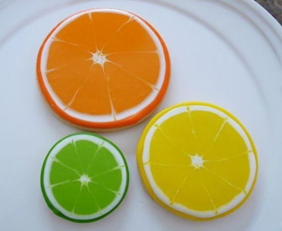 Citrus Hand Decorated Sugar Cookies
