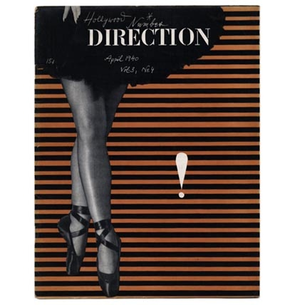 Paul Rand's DIRECTION cover April 1940