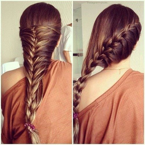 Braided hair look