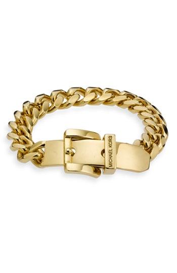Michael Kors Buckle Curb Link Bracelet