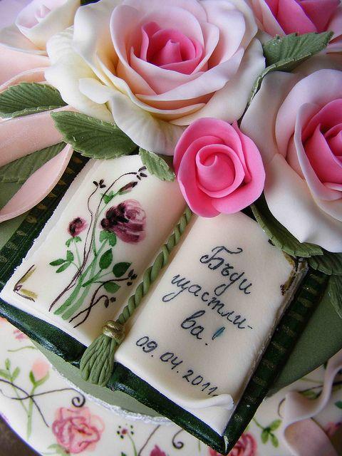 Vintage style cake by bubolinkata, via Flickr