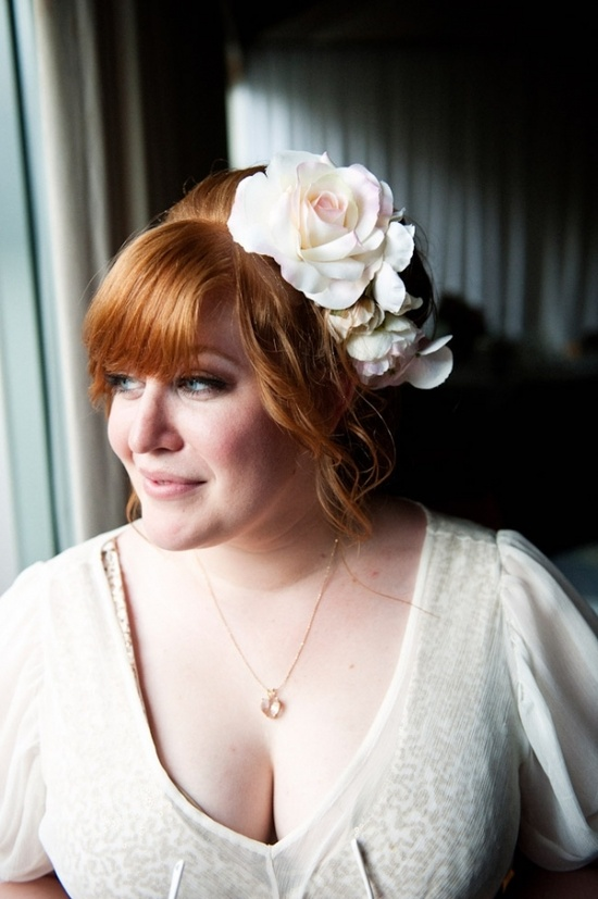 Blush pink and white #flowers #hair #weddings #adornment