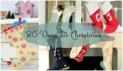 Christmas Countdown: 26 Days ~ Creative Handmade Stockings Ideas ~ MISI - Handmade in the UK
