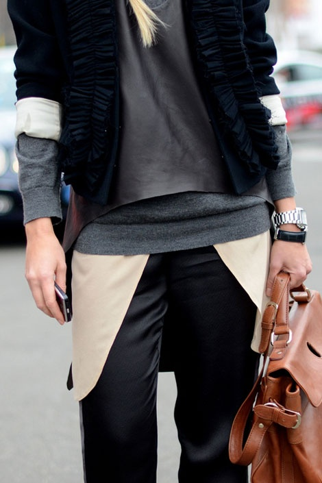 Chic street style: layering for fall.
