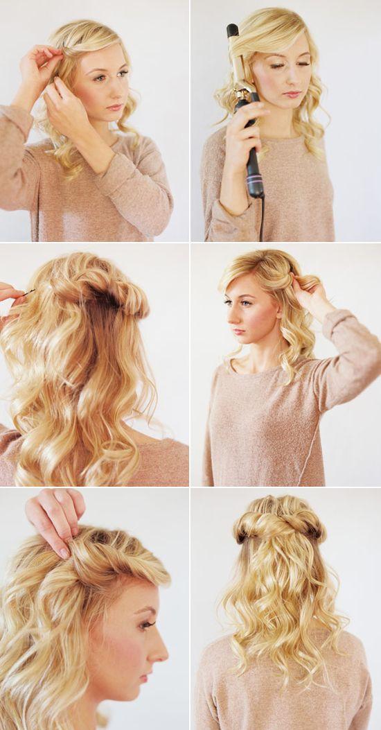 Loose halo hair tutorial