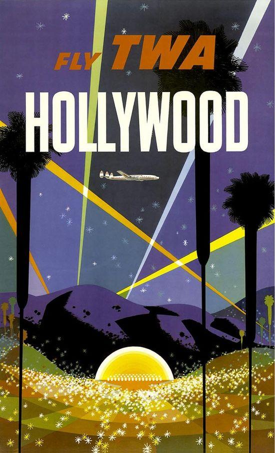 vintage TWA travel posters by David Klein