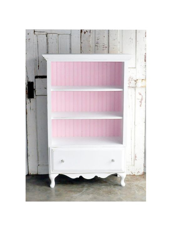 pretty...just made something like this out of a dresser - but this has a pink inside and I love that!