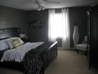 Master bedroom makeover, thanks to Pinterest.