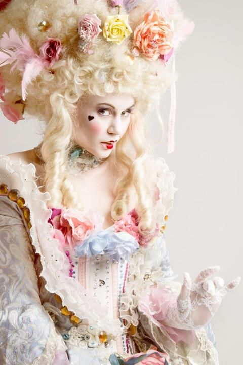 Belle Epoque Wig W// Flower Blonde Ball Princess Fairytale Fancy Dress