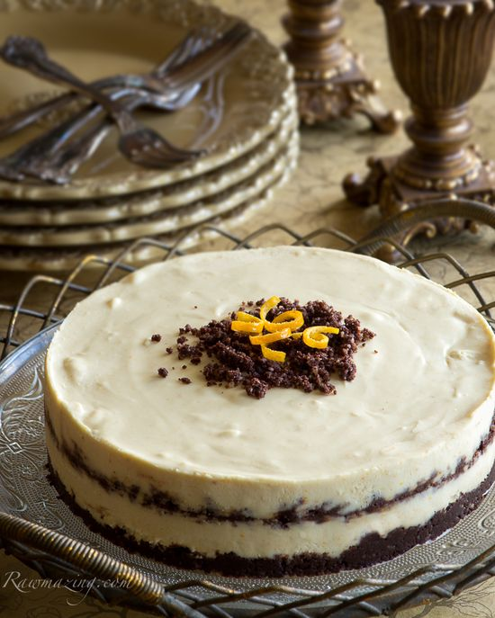 Looking for a holiday dessert that's a little different? Raw Orange Chocolate Cheesecake is festive but unexpected!