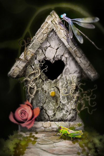 Birdhouse - So Shabby Chic !