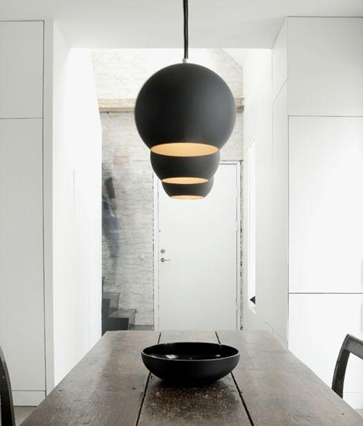 Danish black and white interiors by Norm #Danish #DanishDesign