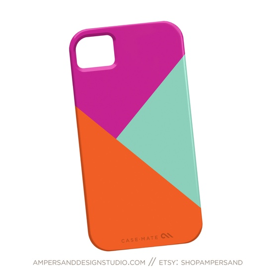 iPhone 4 or 5 case - Color Block. $39.00, via Etsy.