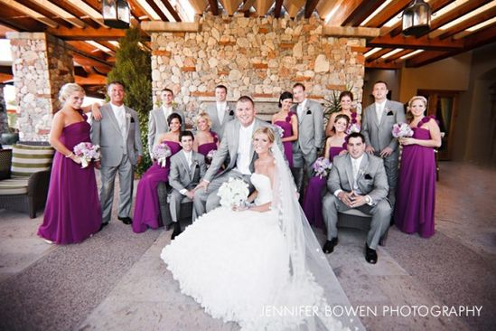 Purple Grey Wedding